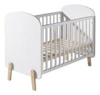 Vipack Lit de bébé Kiddy blanc L 120 x Lg 60 cm-Avant