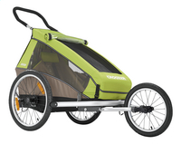 Croozer Remorque de vélo Kid for 1 Click & Crooze meadow green/sand grey