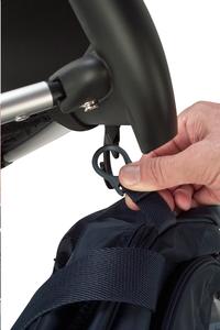 Okiedog Crochet pour sac à langer Clipix noir - 2 pièces-Image 1
