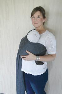 Babylonia Geweven draagdoek BB-SLING geo grey-Afbeelding 1