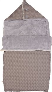 Koeka Voetenzak voor draagbare autostoel Oslo taupe/soft grey