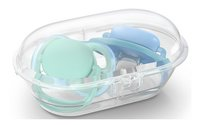 Philips AVENT Fopspeen 0 - 6 maanden Ultra Air deco blauw/groen - 2 stuks-Artikeldetail