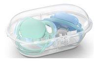 Philips AVENT Fopspeen 6 - 18 maanden Ultra Air deco blauw/groen - 2 stuks-Artikeldetail