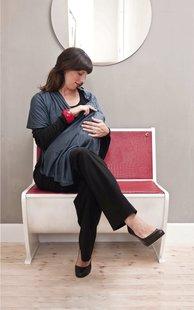 Lässig Châle/écharpe d'allaitement  bleu foncé-Détail de l'article