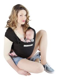 Je porte mon bebe Écharpe de portage extensible Basic black-Détail de l'article