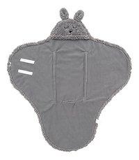 Jollein Wikkelcape Bunny storm grey-Vooraanzicht