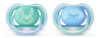 Philips AVENT Fopspeen 6 - 18 maanden Ultra Air deco blauw/groen - 2 stuks-Vooraanzicht
