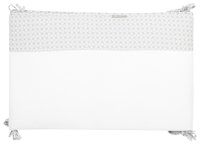 Timmy Bedomranding Soft Grey grijs/wit katoen/polyester