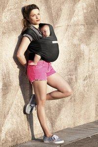 ... Je porte mon bebe Écharpe de portage extensible Basic black-Image 3 ... 32c8061e10f