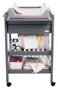 Troll Table à langer avec tiroir Loft seal grey-commercieel beeld