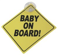 Pancarte Baby on board jaune
