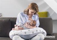 doomoo Positionerings- en borstvoedingskussen Buddy Dots grey-Afbeelding 1