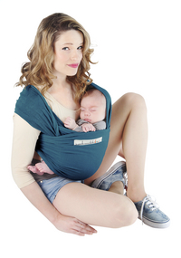 Je porte mon bebe Écharpe de portage extensible Basic retro blue-Détail de l'article