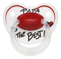 Bibi Papa is the best wit/rood 0 - 6 maanden