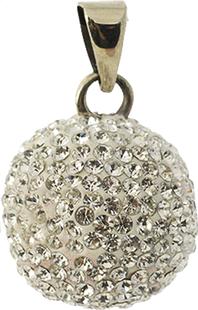 Babylonia Zwangerschapsbelletje imitatiesteentjes zilver