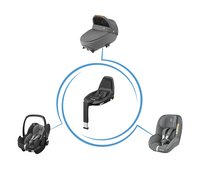 Maxi-Cosi Draagbare autostoel Pebble Pro i-Size sparkling grey-Afbeelding 1
