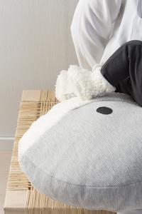 Nanami Coussin d'allaitement Momo baleine blanc/gris-Image 1