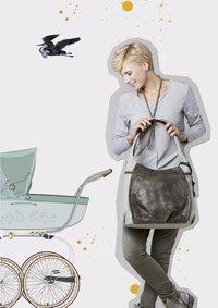 Lässig Verzorgingstas Hobo bag olive/beige-Afbeelding 1