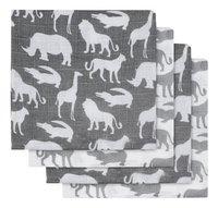 Jollein Essuie tetra Safari stone grey - 2 pièces-Avant