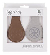 My Cloby Clip voor wandelwagen/buggy Cloby Swaddle clips cognac/grijs