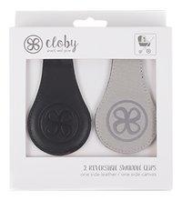 My Cloby Clip voor wandelwagen/buggy Cloby Swaddle Clips zwart/grijs