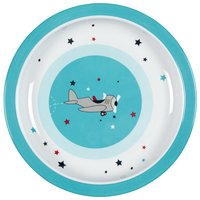 Lässig Assiette plate Little Airplane bleu