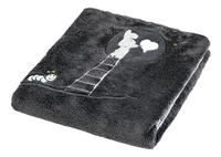 Dreambee Deken voor bed Nino donkergrijs soft fleece-Vooraanzicht