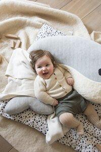 Nanami Coussin d'allaitement Momo baleine blanc/gris-Image 3