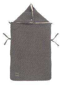 Jollein Chancelière pour siège-auto portable Bliss Knit Storm Grey-Avant