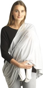 Jen & James Châle/écharpe d'allaitement ligne gris/blanc-Image 2