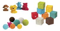 Infantino Set de jeu Sensory Balls, Blocks & Buddies - 20 pièces-commercieel beeld