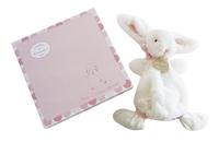 Doudou et Compagnie Doudou Lapin Bonbon rose 26 cm