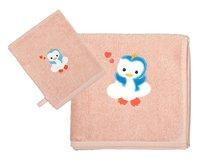 Dreambee Serviette + gant de toilette Niyu rose - 2 pièces