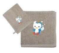 Dreambee Serviette + gant de toilette Niyu gris - 2 pièces