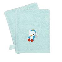 Dreambee Gant de toilette Niyu menthe - 2 pièces