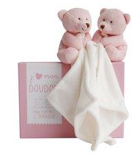 Doudou et Compagnie Doudou J'aime mon doudou Duo 15 cm roze  - 2 stuks-Artikeldetail