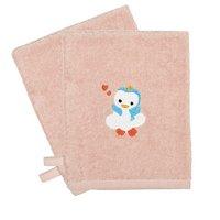 Dreambee Gant de toilette Niyu rose - 2 pièces