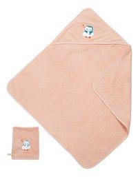 Dreambee Cape de bain et gant de toilette Niyu rose