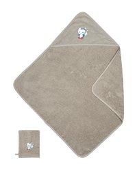 Dreambee Cape de bain et gant de toilette Niyu gris