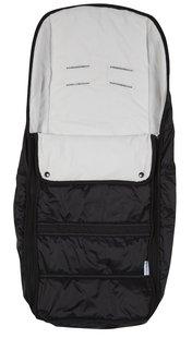Dreambee Voetenzak voor wandelwagen Essentials zwart/grijs