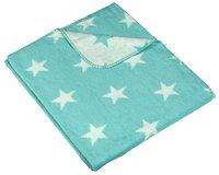 Meyco Fleece deken voor wieg of park Stars mint