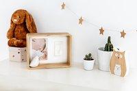 Baby Art Fotokader met gipsafdruk Deep frame wooden wit-Afbeelding 1