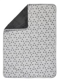 Dreambee Deken voor wieg of park Nino grijs/donkergrijs soft fleece-Vooraanzicht