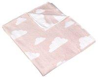 Meyco Couverture en polaire pour lit Clouds light pink