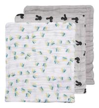 Dreambee Gant de toilette Nino gris/blanc - 3 pièces-Avant