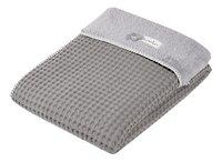 Koeka Couverture d'hiver pour berceau ou parc Oslo taupe/soft grey teddy/coton