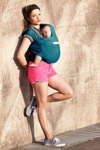 Je porte mon bebe Écharpe de portage extensible Basic retro blue-Image 3