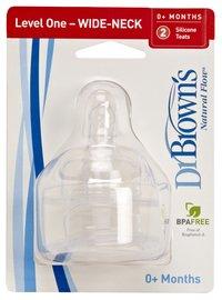 Dr. Brown's Speen - 2 stuks voor pasgeboren baby-Vooraanzicht