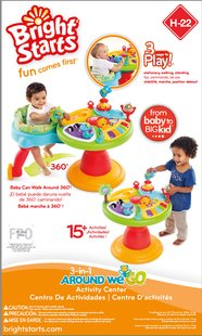 Bright Starts activiteitentafel Activity Center Zippity Zoo 3-in-1 Around We Go!-Vooraanzicht