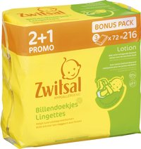 Zwitsal Lingettes humides Lotion - 216 pièces